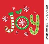 joy christmas design | Shutterstock .eps vector #424707505