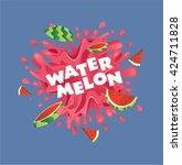 fresh watermelon fruit juice...