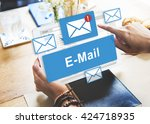 email inbox electronic... | Shutterstock . vector #424718935