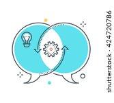 color line  relationship... | Shutterstock .eps vector #424720786
