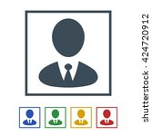 business men icon isolated on... | Shutterstock .eps vector #424720912