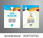 vector brochure  flyer ... | Shutterstock .eps vector #424723732