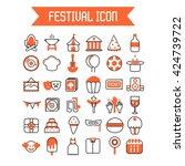 festival icon template  | Shutterstock .eps vector #424739722