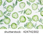 Cucumber Slices. Green Dill....