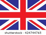 united kingdom flag | Shutterstock .eps vector #424744765