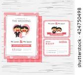 wedding invitation card... | Shutterstock .eps vector #424750498