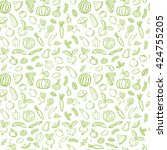 seamless pattern with green ... | Shutterstock .eps vector #424755205