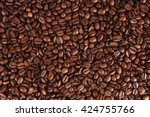 coffee beans closeup background.... | Shutterstock . vector #424755766