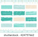 vector collection of retro... | Shutterstock .eps vector #424757662