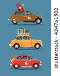 vintage road trip summer... | Shutterstock .eps vector #424761502