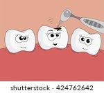sweet healthy teeth. dentist... | Shutterstock . vector #424762642
