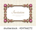 vintage card with diamond... | Shutterstock .eps vector #424766272