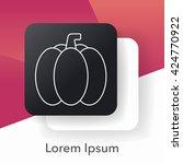 vegetables line icon   Shutterstock .eps vector #424770922
