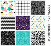 abstract seamless geometric... | Shutterstock . vector #424782238