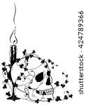 Vector Illustration Of Skull ...
