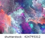 abstract shapes made of fractal ... | Shutterstock . vector #424795312