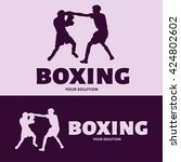 vector logo boxing. logo in the ... | Shutterstock .eps vector #424802602