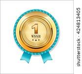 vintage winner award badge.... | Shutterstock .eps vector #424813405