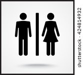 male and female sign icon ... | Shutterstock .eps vector #424814932