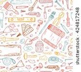 house repair tools vector... | Shutterstock .eps vector #424817248
