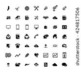 set of 49 universal icons.... | Shutterstock . vector #424817506