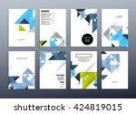 geometric vector background.... | Shutterstock .eps vector #424819015