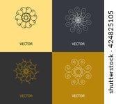 collection of vector logo...   Shutterstock .eps vector #424825105