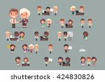business people vector set | Shutterstock .eps vector #424830826