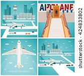 airport vector concepts set in...   Shutterstock .eps vector #424833802