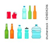 bottles vector collection...