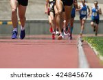 athletics people running on the ... | Shutterstock . vector #424845676