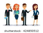 business people characters.... | Shutterstock .eps vector #424850512