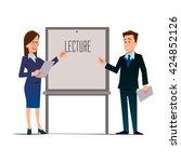 business teachers  woman and... | Shutterstock .eps vector #424852126