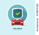 car protection vector sign ... | Shutterstock .eps vector #424855285