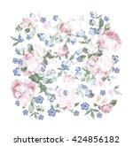 floral arrangement  watercolor | Shutterstock . vector #424856182