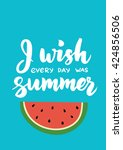 summer card with hand drawn... | Shutterstock .eps vector #424856506