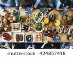 food catering cuisine culinary... | Shutterstock . vector #424857418