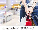 concept of woman shopping and