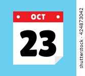 calendar icon flat october 23