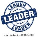 leader. stamp | Shutterstock .eps vector #424884205