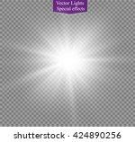 glow light effect. star burst...   Shutterstock .eps vector #424890256