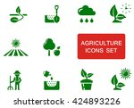 set of green agriculture icon... | Shutterstock .eps vector #424893226