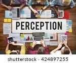 perception insight awareness... | Shutterstock . vector #424897255