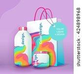 color liquid design. packages... | Shutterstock .eps vector #424898968