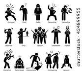 negative personalities... | Shutterstock .eps vector #424899955