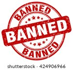 banned. stamp | Shutterstock .eps vector #424906966