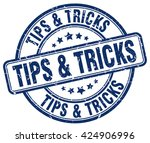 tips   tricks. stamp | Shutterstock .eps vector #424906996