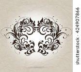 vintage element for design ... | Shutterstock .eps vector #424907866