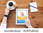 business  sport  technology and ... | Shutterstock . vector #424918432