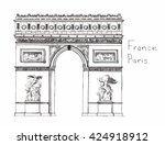 hand drawn architecture sketch... | Shutterstock .eps vector #424918912